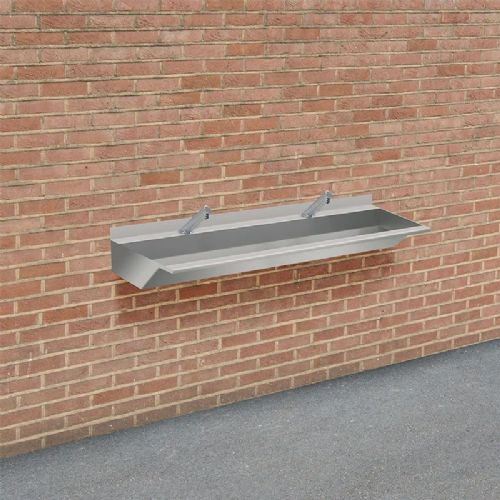 H&L Outdoor 1500mm Stainless Steel Wash Trough with No-Touch Taps